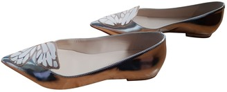 Sophia Webster Silver Leather Flats