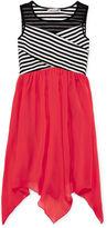 Speechless Stripe Illusion Neck Sharkbite Dress - Girls 7-16