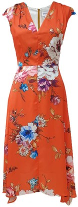 Mellaris Fiona Dress Orange Vibrant Floral Print