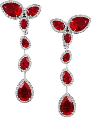 Swarovski Atelier Lola Long Earrings Created Rubies