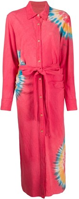 The Elder Statesman Tie-Dye Shirt Dress