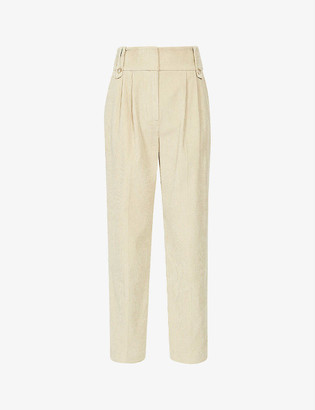Reiss Aster cropped corduroy trousers