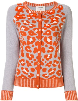 Onefifteen Embroidered Animal Print Cardigan