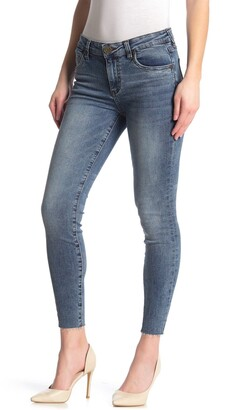 KUT from the Kloth Carlo Raw Hem Ankle Crop Skinny Jeans