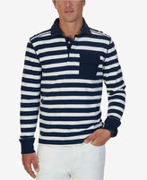 Nautica Men's Big & Tall Striped Long-Sleeve Polo