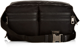 Dolce & Gabbana Vulcano leather-trim nylon waist pouch
