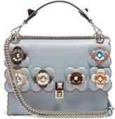 Fendi Kan I flower-embellished leather shoulder bag