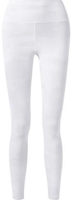 Alo Yoga Vapor Camouflage-print Stretch Leggings - Off-white