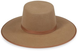 LACK OF COLOR Rancher Wool Boater Hat