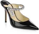 Jimmy Choo Bing Embellished Patent Leather Mules