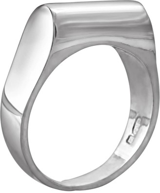 Edge Only High Top Ring Silver