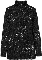 By Malene Birger Zio sequined satin-jersey top