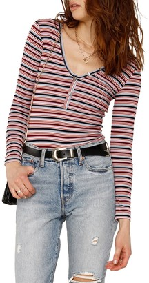 Heartloom Sierra Striped Henley Shirt