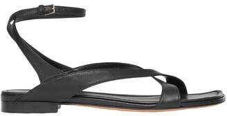 Burberry Leather Wrap-Around Sandals