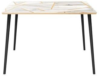 "Wrought Studioâ""¢ Gumbs Dining Table Wrought Studioa Top Color: Natural, Base Color: Black"