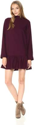 Lucca Couture Women's Addison Mock-nk Drop Waist Dress