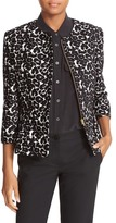 Helene Berman Animal Jacquard Peplum Jacket
