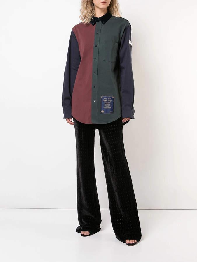 Alexander Wang Monogram print flared trousers