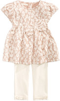 First Impressions 2-Pc. Jacquard Tunic and Leggings Set, Baby Girls (0-24 months), Created for Macy's