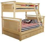 Bolton Furniture Bennington Twin Over Full Bunk Bed With Under Bed 3 Storage Drawer Case Natural