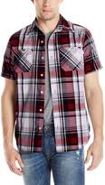 Akademiks Men's Stitch Button-Front Shirt