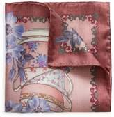 Eton Floral Teacup Silk Pocket Square