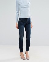 J Brand Emma Mid Skinny Jeans With Exposed Zip