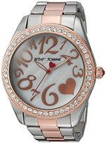 Betsey Johnson Women's Quartz Metal and Stainless Steel Casual Watch, Color:Two Tone (Model: BJ00249-39)