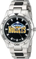 Game Time Men's 'Heavy Hitter' Metal and Alloy Quartz Analog Watch, Color:Silver-Toned (Model: NBA-HH-DEN)