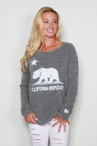 Rebel Yell California Republic Lil Sis Lounger in Heather Gray