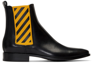 Off-White Off White Black and Yellow Chelsea Boots