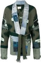 Alanui patchwork belted cardigan