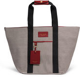 Henri Bendel Striped Canvas Zip Tote