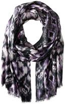 Bindya Stole Watercolor Ikat Cashmere/Silk Wrap