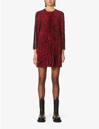 RED Valentino Panther print crepe mini dress