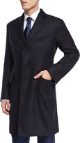 Tom Ford Special Edition Herringbone Cashmere Top Coat, Navy