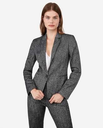 Express Speckled Tweed One Button Blazer