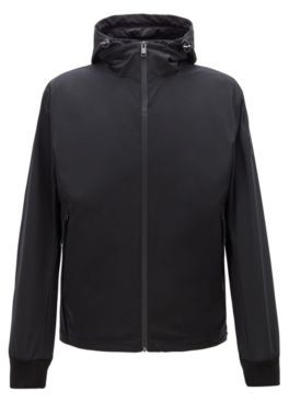 HUGO BOSS Water Repellent Three In One Jacket With Detachable Hood - Black