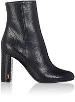 Saint Laurent Women's Loulou Perforated Leather Ankle Boots