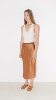 Helmut Lang Satin Long Slip Skirt