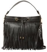 Milly Astor Fringe Leather Hobo