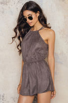 Toby Heart Ginger Suede Candy Playsuit