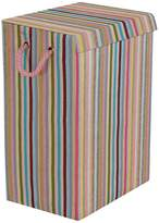Minky Coloured Stripe Laundry Hamper - Multi