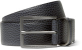 Hugo Boss - 3.5cm Blue Sopprin Full-grain Leather Belt