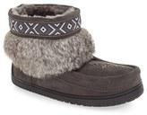 Manitobah Mukluks Women's 'Keewatin' Genuine Shearling And Rabbit Fur Boot