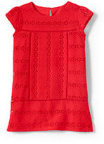 Lands' End Toddler Girls Eyelet Legging Top-Tangerine Zest