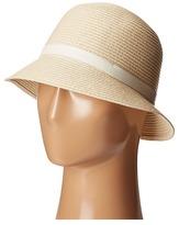 Lauren Ralph Lauren Cloche Hat w/ Leather Belt Caps