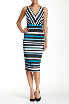 Alexia Admor V-Neck Striped Dress