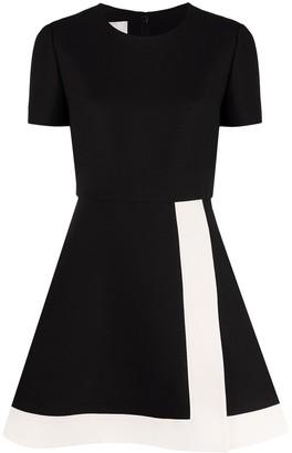 Valentino Colour Block Flared Dress