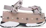 No.21 No 21 Runway embellished silk flatform sandals